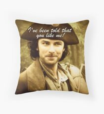 Sexy Poldark in Cornwall Throw Pillow