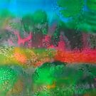 The mysticism of Hanging Rock VIC Australia - abstract by Margaret Morgan (Watkins)