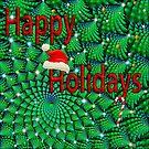 Fractal Tree Christmas Card by Sandra Moore