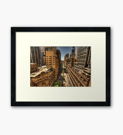Martin Place,Sydney Australia - The HDR Experience Framed Print