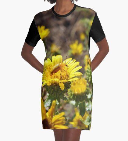 Yellow on Yellow Graphic T-Shirt Dress