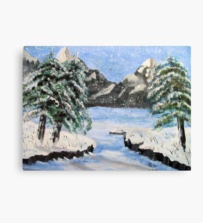 Rocky Mountain, winter Canvas Print