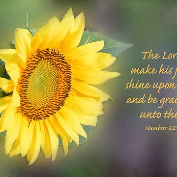 Sunflower with Bible Verse by Deb504
