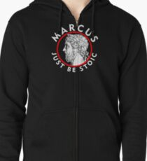 Marcus - Just Be Stoic - v1 Zipped Hoodie