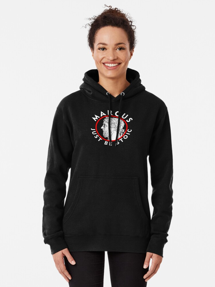 Alternate view of Marcus - Just Be Stoic - v1 Pullover Hoodie