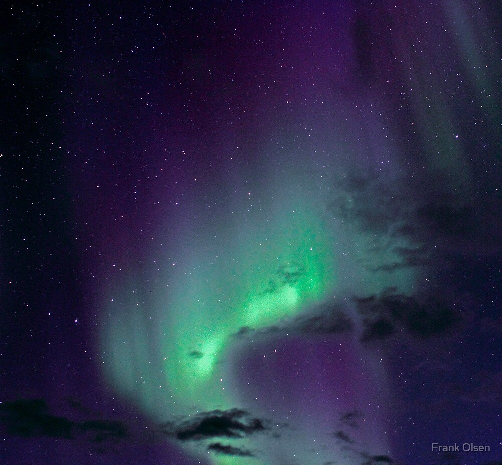 Aurora Borealis / North Light in the arctic Norway by Frank Olsen