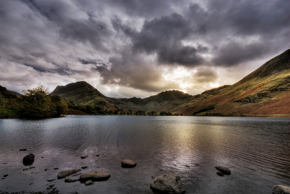 As the sun sets over Buttermere by Anna Shaw