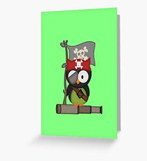The Pirate Owl  Greeting Card