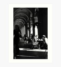 Clearing tables ... Art Print