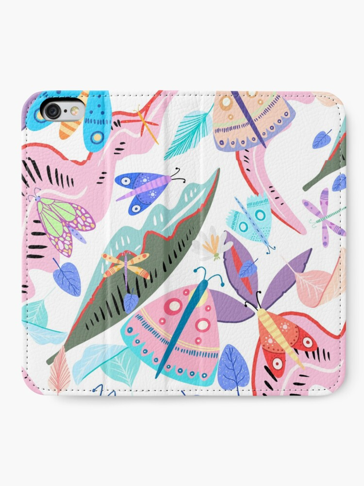 Alternate view of Butterflies and Flowers iPhone Wallet