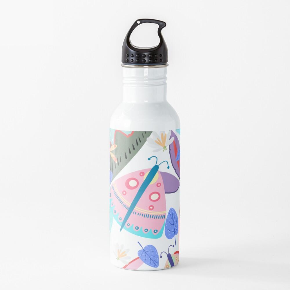 Butterflies and Flowers Water Bottle