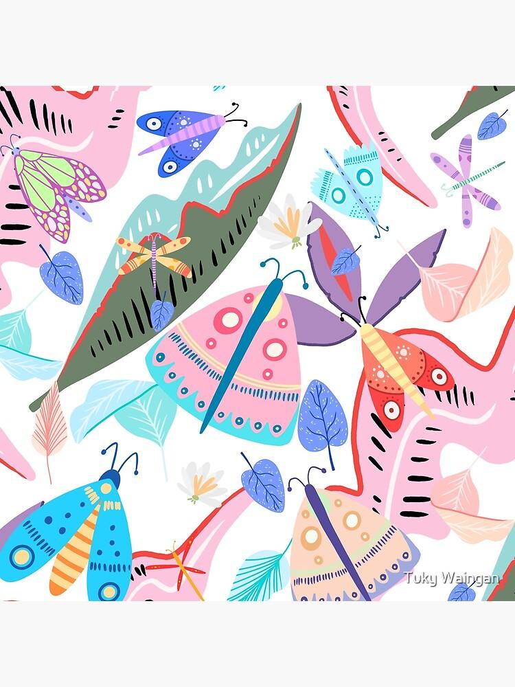 Butterflies and Flowers by tukywaingan