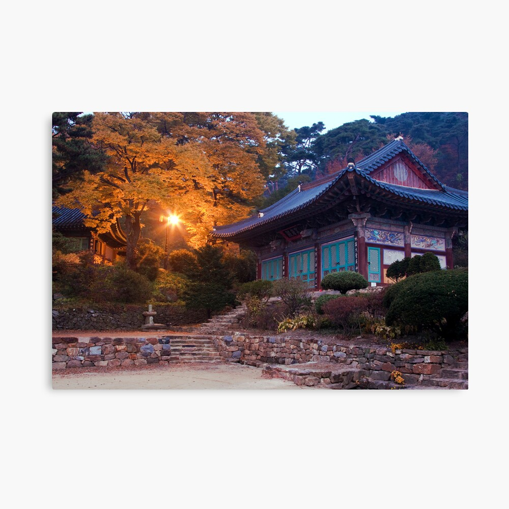 Temple At Dawn Canvas Print