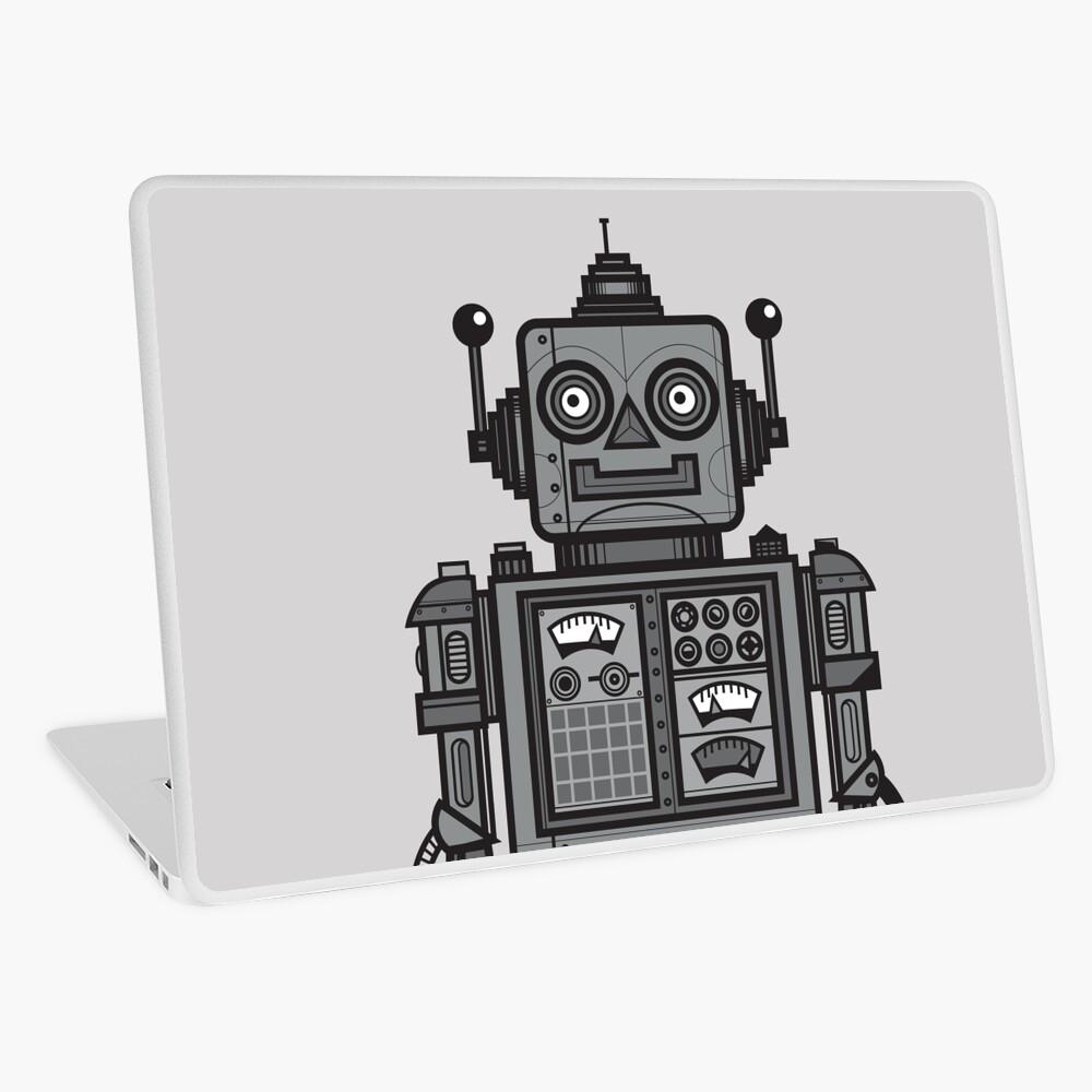 Weinlese-Roboter Laptop Folie