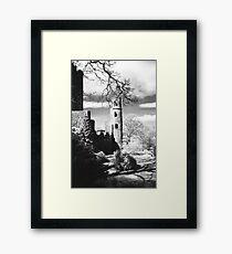 Blarney Castle, Ireland Black and White Framed Print