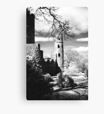 Blarney Castle, Ireland Black and White Canvas Print