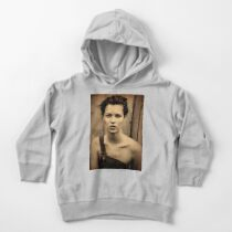 Kate Moss old digitally manipulated sepia photo Toddler Pullover Hoodie