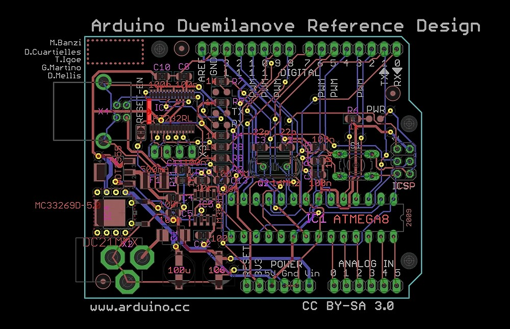 Arduino Duemilanove Reference Design - black by Rupert Russell