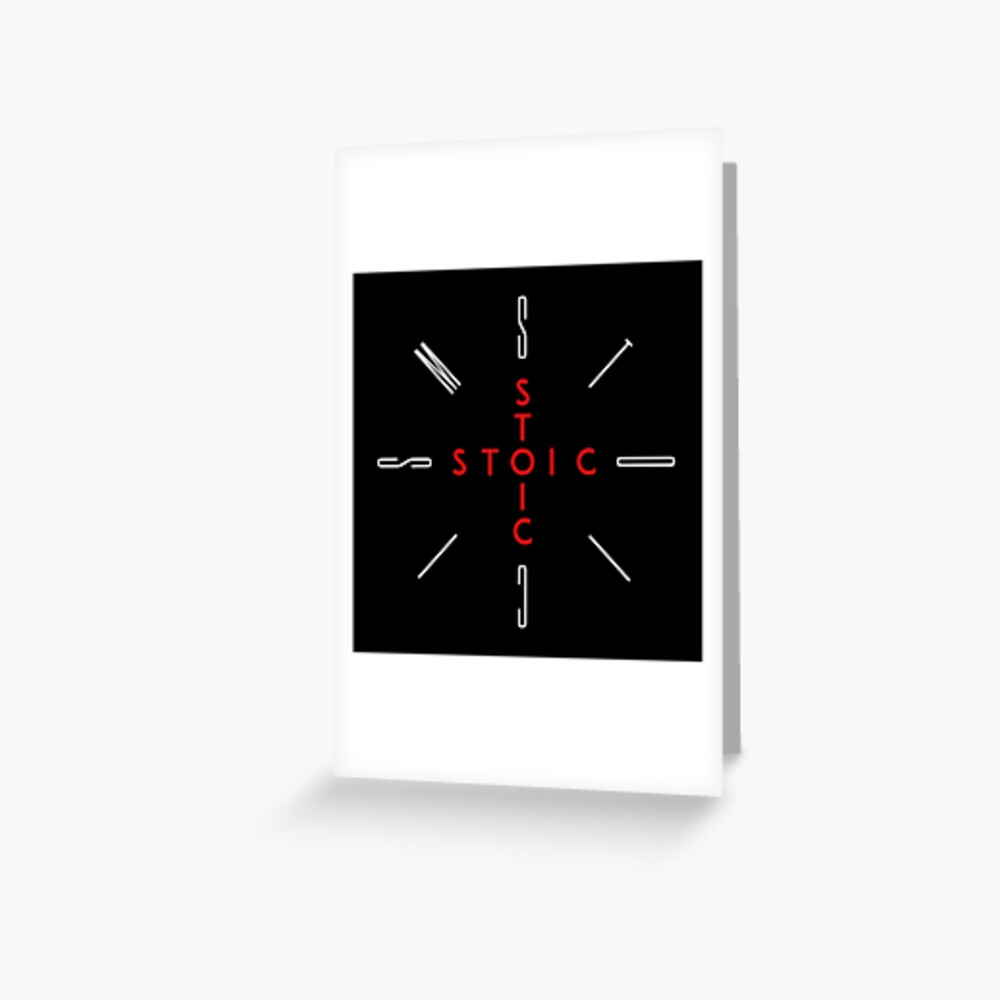 Stoic Word Cross - Stoic and Stoicism Text in a Cross Circle Greeting Card