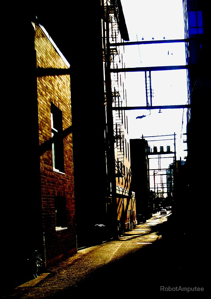 Down the Alley - Downtown Vancouver by RobotAmputee