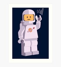 Space Astronaut Art Print