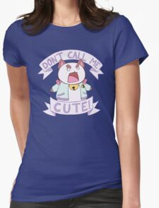 Puppycat - Don't Call Me Cute!  Womens Fitted T-Shirt