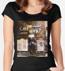 Cafe Wha, NYC, NY Women's Fitted Scoop T-Shirt