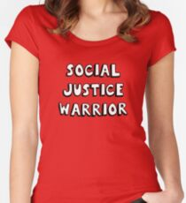 social justice warrior Women's Fitted Scoop T-Shirt