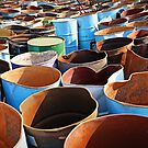 Discarded oil barrels by BlaizerB