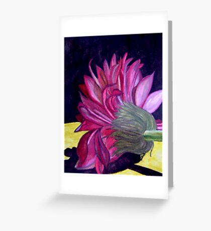 Here I Lie Motionless Greeting Card