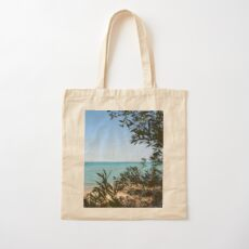 Beach, Lake House, Great Lakes Cotton Tote Bag