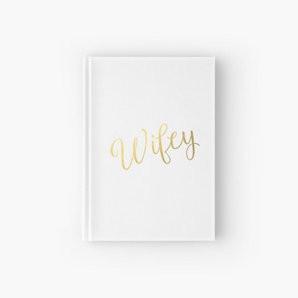 Wifey Faux Goldfolie Notizbuch