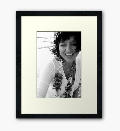 shining from the inside out Framed Print