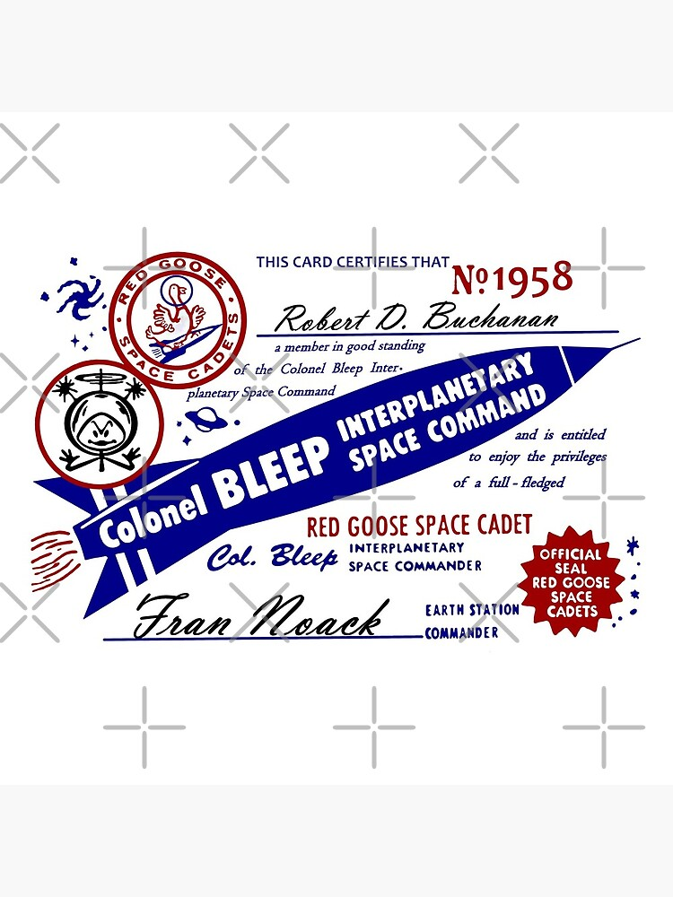 Colonel Bleep Interplanetary Space Command Membership Card by michaelrodents