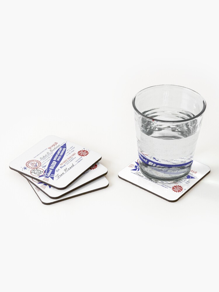 Alternate view of Colonel Bleep Interplanetary Space Command Membership Card Coasters (Set of 4)