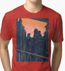 Cityscape in the Evening Tri-blend T-Shirt