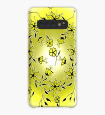 Flower Swirl - Yellow Case/Skin for Samsung Galaxy