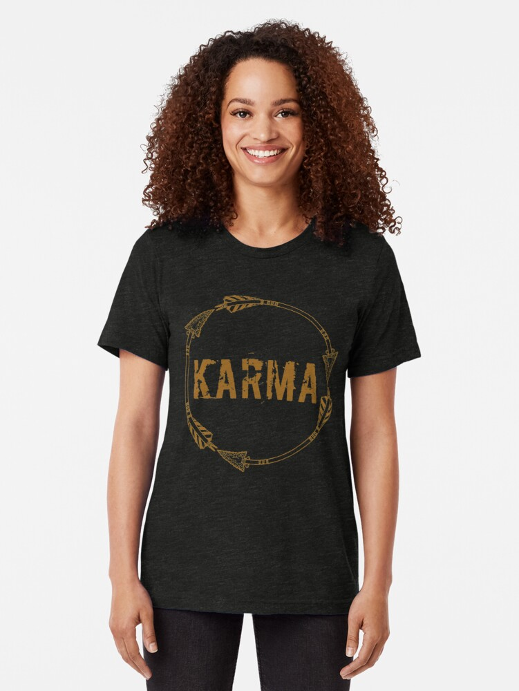 Alternate view of Karma Tri-blend T-Shirt
