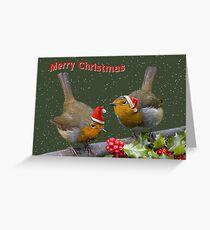 Bobbin' Robins Greeting Card