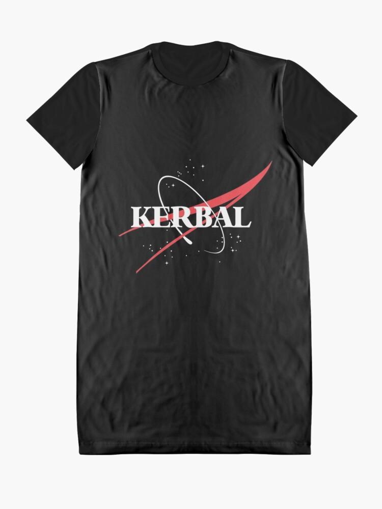 Alternate view of Kerbal Space Program Hoodie Graphic T-Shirt Dress