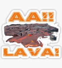 AAH! Lava Sticker