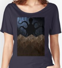 Cthulhu's mountains of madness - blue Women's Relaxed Fit T-Shirt