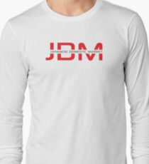 JDM Japanese Domestic Market (light background) Long Sleeve T-Shirt