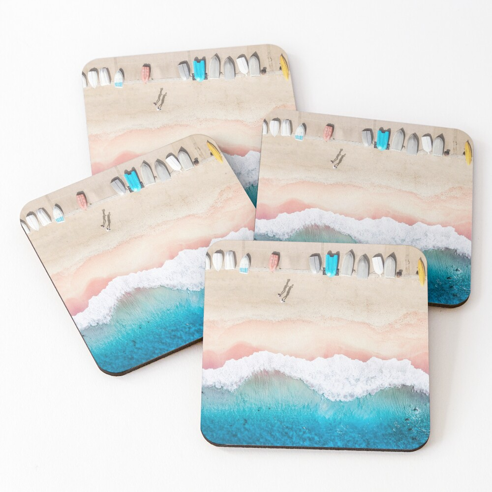 Boats and Beach Coasters (Set of 4)