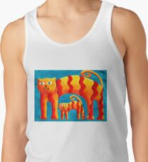 Curved Cats Tank Top