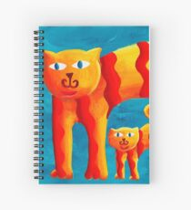 Curved Cats Spiral Notebook