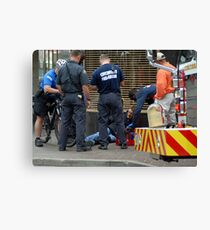 Injured in the City Canvas Print