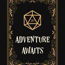 Abenteuer erwartet D20 Dice Tabletop RPG von pixeptional