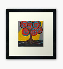 Recovery Tree ~ print of oil pastel portrait Framed Print