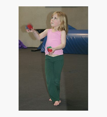 Young juggler Photographic Print